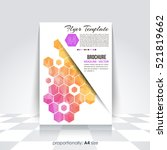 low poly brochure  a4 flyer... | Shutterstock .eps vector #521819662