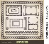 vector set  assorted borders... | Shutterstock .eps vector #52182991