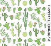 cactus vector pattern | Shutterstock .eps vector #521832046