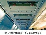 airplane interior detail....   Shutterstock . vector #521839516