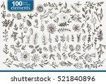 set of christmas designer's... | Shutterstock .eps vector #521840896