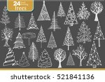 set of christmas designer's... | Shutterstock .eps vector #521841136