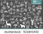 set of christmas designer's...   Shutterstock .eps vector #521841442