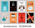 collection of flat design... | Shutterstock .eps vector #521844256