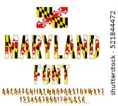 maryland usa state flag font.... | Shutterstock .eps vector #521844472