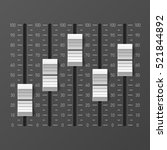 sound mixer console  dj... | Shutterstock .eps vector #521844892