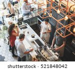 Small photo of Coffee Shop Bar Counter Cafe Restaurant Relaxation Concept