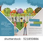 template for advertising... | Shutterstock .eps vector #521850886