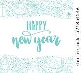 vector hand written winter... | Shutterstock .eps vector #521854546