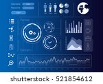 security virtual interface .... | Shutterstock . vector #521854612