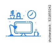vector illustration of blue... | Shutterstock .eps vector #521855242