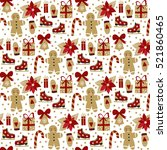 vector seamless pattern with... | Shutterstock .eps vector #521860465