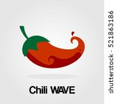 chili wave logo company food... | Shutterstock .eps vector #521863186