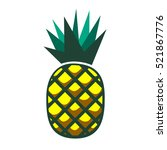pineapple vector isolated on... | Shutterstock .eps vector #521867776