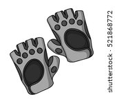 gym gloves icon in monochrome... | Shutterstock . vector #521868772