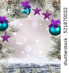 christmas holiday background... | Shutterstock . vector #521870032