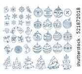 christmas season vector... | Shutterstock .eps vector #521872018