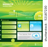 web site design template.green... | Shutterstock .eps vector #52187230