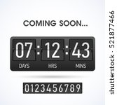 coming soon countdown website... | Shutterstock .eps vector #521877466