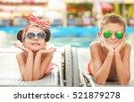 little kids lying on deck... | Shutterstock . vector #521879278