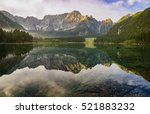Autumn Over Alpine Lake In The...