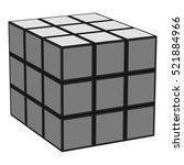 rubik's cube icon in monochrome ... | Shutterstock . vector #521884966