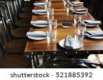 indoors banquet tableware event ... | Shutterstock . vector #521885392