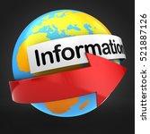 3d illustration of globe  world ...   Shutterstock . vector #521887126