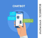 chatbot concept. user chatting... | Shutterstock .eps vector #521888938