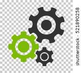 Gear Mechanism Icon. Vector...