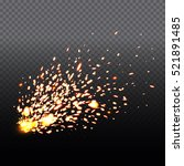 Fire Sparks Of Metal Welding...