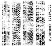four grunge tire tracks...   Shutterstock .eps vector #521891722