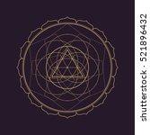 vector gold monochrome design... | Shutterstock .eps vector #521896432