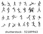 silhouette black football ball  ... | Shutterstock . vector #52189963