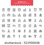 minimalistic thin line building ... | Shutterstock .eps vector #521900038