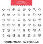 minimalistic thin line animal   ...   Shutterstock .eps vector #521900068