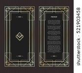 vector geometric cards in art... | Shutterstock .eps vector #521903458