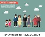 people generations in flat... | Shutterstock .eps vector #521903575