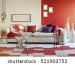 interior design of a luxury... | Shutterstock . vector #521903752