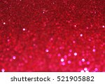 red bokeh christmas light... | Shutterstock . vector #521905882