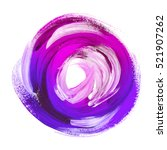 Oil Paint Abstract Violet Round ...