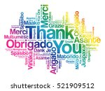 thank you word cloud background ... | Shutterstock .eps vector #521909512