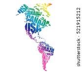 america map in typography word... | Shutterstock .eps vector #521915212