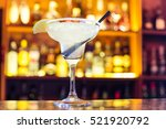margarita cocktail in a glass... | Shutterstock . vector #521920792