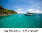 people snorkeling in the deep... | Shutterstock . vector #521922982