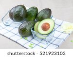 fresh avocado  very good fruit... | Shutterstock . vector #521923102