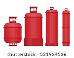 gas tank set in flat style. | Shutterstock .eps vector #521924536
