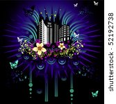 abstract fantasy city vector | Shutterstock .eps vector #52192738