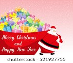 merry christmas and happy new... | Shutterstock .eps vector #521927755