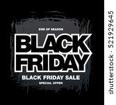 black friday sale banner | Shutterstock .eps vector #521929645